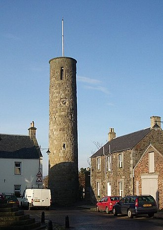 Clan MacDuff - The round tower of Abernethy, built for the Celtic abbey of which a branch of Clan MacDuff were hereditary Abbots.