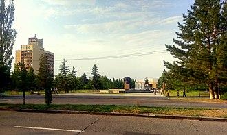 Abovyan - Sipan hotel and the Abovyan town hall