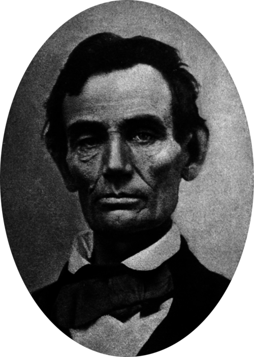 Abraham lincoln 1858