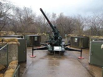 """Mudchute Park and Farm - 3.7"""" Ack Ack gun on display at the Mudchute"""