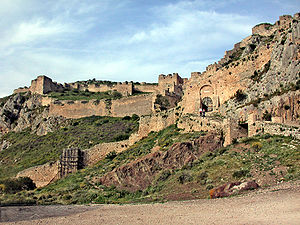 Leo Sgouros - The entrance fortifications of the Acrocorinth citadel.