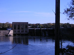 Ada Township, Michigan - Dam across the Thornapple River