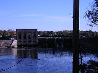 Ada Township, Michigan - Dam across the Thornapple River