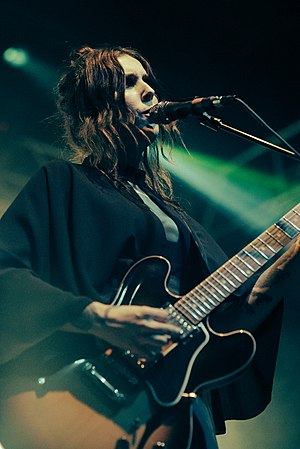 Chelsea Wolfe was a featured guest for the Blood Moon performances. AdamWright-Treefort-2016-ChelseaWolfe-49 (31415982664).jpg