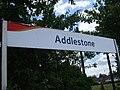 Addlestone station signage.JPG