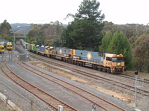 Rail transport in South Australia - Pacific National freight passing Belair in the Adelaide Hills