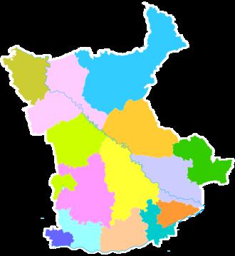 Xianyang - Image: Administrative Division Xianyang