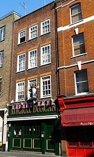 Admiral Duncan (pub) gay pub in Old Compton Street, Soho, London