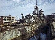 Admiral Hipper cruiser in dry dock Kiel 1945