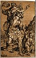 Aeneas carrying Anchises on his shoulders, while also leadin Wellcome V0049693.jpg