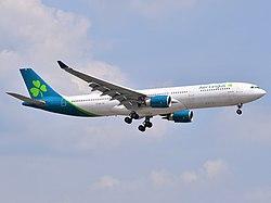Aer Lingus Airbus A330-302 EI-EDY approaching EWR Airport.jpg