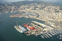 Aerial view - Harbour of Genoa, Italy - DSC01156.JPG