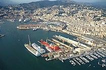 Aerial view - Harbour of Genoa, Italy - DSC01156.JPG