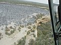 Aerial views of cliff dwelling areas where burning resulted from the Long Mesa Fire, Mesa Verde National Park, August 2002 (0924fe91-4098-40d9-9779-68d2b7ea8962).jpg