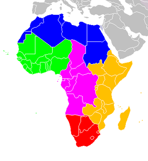 United Nations geoscheme for Africa - Image: Africa regions