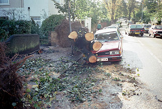 Great Storm of 1987 - Storm damage in London