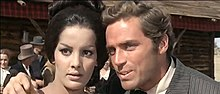 Agata Flori with David Bailey in Seven Guns for the MacGregors (1967).jpg