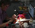 Agata Materowicz making Animator Doll for video Pioropusz-Natalia Kukulska.jpg