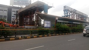 Metro-Link Express for Gandhinagar and Ahmedabad - Image: Ahmedabad Metro Underconstruction 9 July 2017 NS Line 02