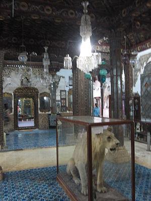 Cutch State -  Living quarters of Maharao Lakhpatji Aina Mahal, Bhuj