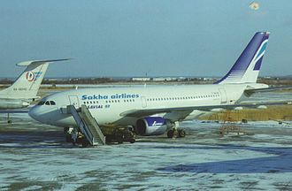 Sakha Avia - Sakha Avia Airbus A310 parked at Yakutsk Airport.