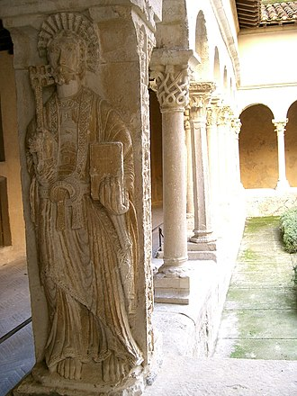 Aix Cathedral - Statue of St. Peter in the cathedral cloister