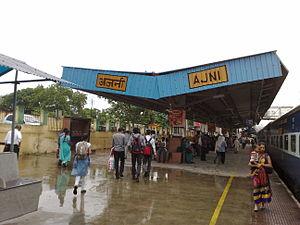Ajni railway station - Image: Ajni Station roof