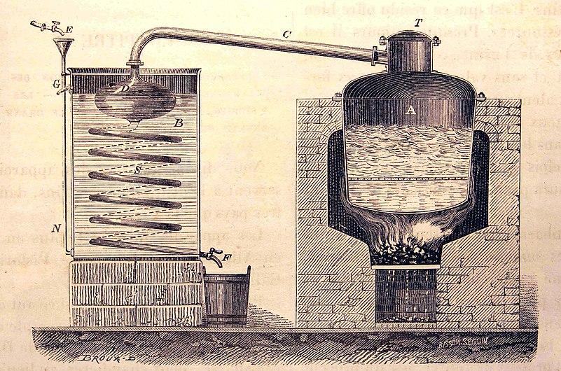 Alambic à double fond pour la distillation des marcs de raisin.jpg