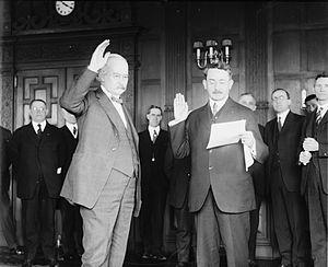 Albert B. Fall - Swearing-in ceremony for Secretary of the Interior Albert Fall
