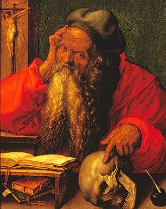 St. Jerome in His Study (Dürer, 1521) - Image: Albrecht Dürer Saint Jerome 1521