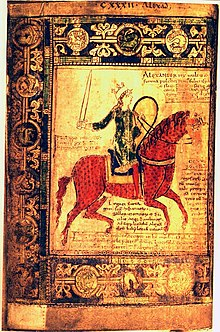alexander der groe in der 11121121 angefertigten originalhandschrift des liber floridus gent universiteitsbibliotheek ms 92 fol 153v - Alexander Der Grose Lebenslauf
