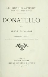 Arsène Alexandre: Donatello