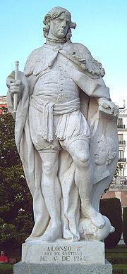 Estatua de Alfonso VIII de Castilla en los Jardines de Sabatini de Madrid (J. Villanueva, 1753).
