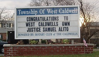 West Caldwell, New Jersey - Samuel Alito's nomination and confirmation to the Supreme Court brought national attention to West Caldwell