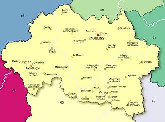 Allier - Map of Allier