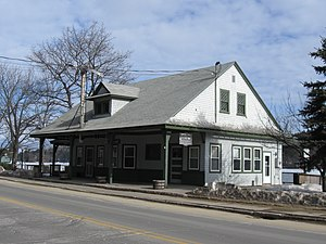 National Register of Historic Places listings in Belknap County, New Hampshire - Image: Alton Bay RR Station