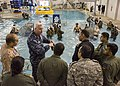 An instructor gives a tour to students at Naval Aerospace Medical Institute. (32519144895).jpg