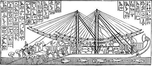Ancient Egyptian Seafaring Ship