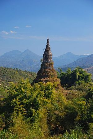Muang Phuan - Ruins of a stupa, Khoune District