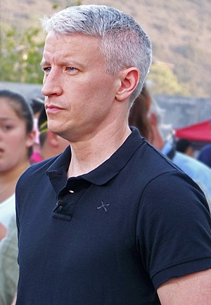 Anderson Cooper - Anderson Cooper at Qualcomm Stadium during the California wildfires of October 2007