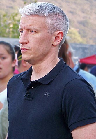 Anderson Cooper - Anderson Cooper at Qualcomm Stadium during the October 2007 California wildfires