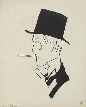 André Brulé - A caricature of Brûlé by Charles Gir.