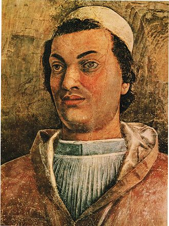 Francesco Gonzaga (1444–1483) - Portrait of Francesco Cardinal Gonzaga from the Camera degli Sposi, a fresco by Andrea Mantegna.