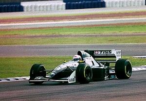 Sauber C13 - Andrea de Cesaris driving the Sauber C13 at Silverstone during the 1994 British Grand Prix.