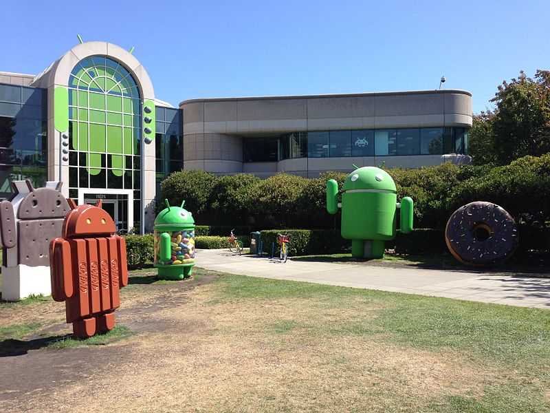 File:Android building in Googleplex with more sculptures.jpg