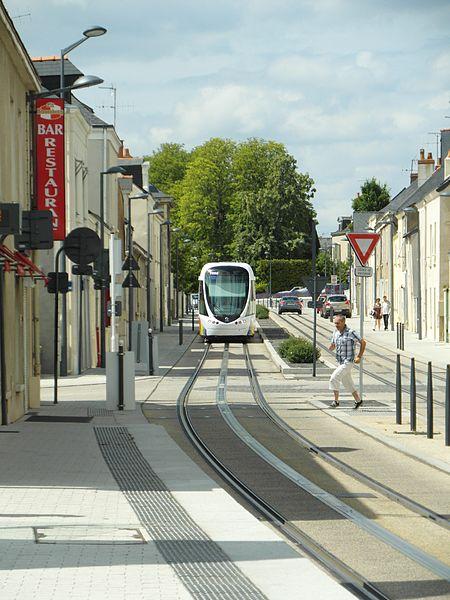 Straßenbahn Angers - Städtebaulcihe Integration im Abschnitt Avrillé