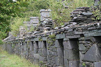 Slate industry in Wales - At Dinorwig Quarry, workers from Anglesey were housed at the Anglesey barracks during the week. They would get up at 3 a.m. on Monday morning to walk to the ferry, and return home on Saturday afternoon.
