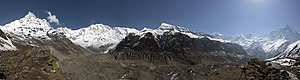 Annapurna Sanctuary - Image: Annapurna Sanctuary Panorama May 2013