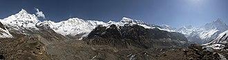 Annapurna Sanctuary - Image: Annapurna Sanctuary Panorama May 2013