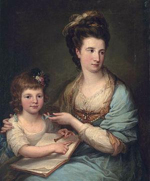 John Stewart, 7th Earl of Galloway - Anne Stewart, née Dashwood, and daughter Susan Stewart, later Duchess of Marlborough (1767-1841) (Angelica Kauffmann)